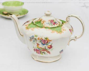 Paragon Rockingham full size bone china teapot, vintage elegance
