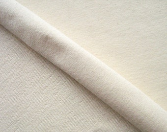 """Organic Cotton French Terry with Stretch By The Yard, Sustainable Fabric, Ivory, Cream 65"""" Wide"""