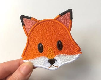 Fox Face Emoji patch