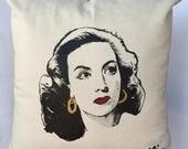 Maria Felix Pillow Cover. Mexican Icon Pillow Cover. La Doña Accent Pillow. Decorative Pillow with Maria Felix.Gift Friendly .