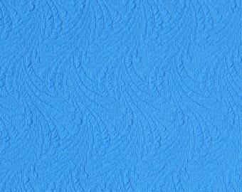 Vintage Unused Polyester Fabric Retro Bright Blue Polyester Crimplene Fabric 260 cm or 2.84 yards