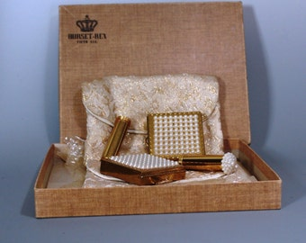 Pair of Vintage Dorset Rex Fifth Avenue Compact Set With Original Bags and Box