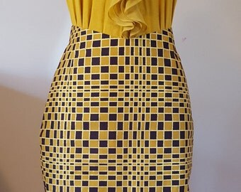 Caramel African pencil skirt