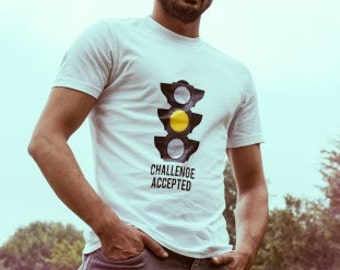 Challenge Accepted T-shirt for car racing street racing drivers - high quality print and tee