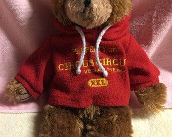 Teddy Bear Plush Las Vegas Circus Circus with Hoodie
