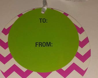 Round Gift Tags