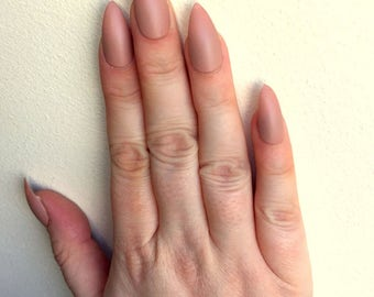 FALSE NAILS - Matte Caramel - Stick On - The Holy Nail
