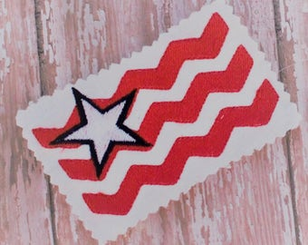 Flag Embroidery Design - Machine Embroidery Pattern - Fourth of July Machine Embroidery Design - Embroidery Download