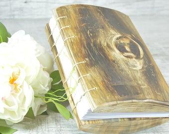 WEDDING GUEST BOOK Wood Natural  Rustic,handmade journal Wood book rustic .