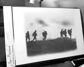 Soldiers pencil drawing
