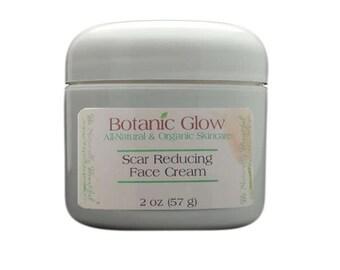 All Natural Scar Reducing Face Cream 2 oz - Dark Spot Cream - Scar Fade Cream