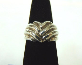Womens Vintage Estate .925 Sterling Silver Ring 4.8g E2805