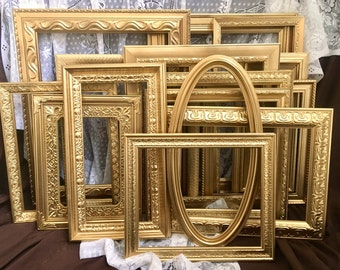 gold picture frame collage set odd unique and unusual frames large open frame gallery wall