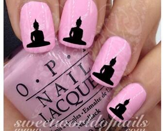 Buddha Nail Art Nail water decals transfers wraps