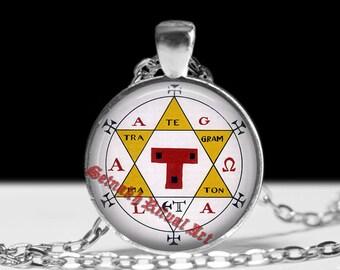 Hexagram of Solomon pendant, Solomon necklace, goetia pendant, occult amulet, The Lesser Key, alchemy pendant, magic talisman, amulet #451