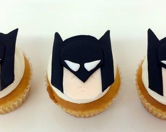 Lego Batman cupcake toppers