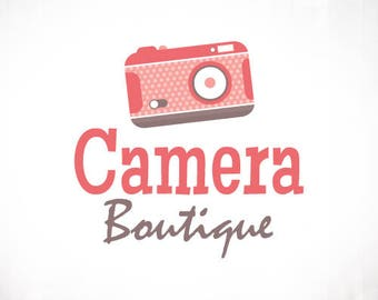 Premade Logo Design • Retro Vintage Camera