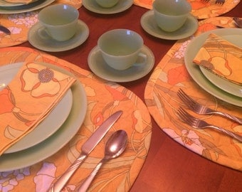 Jadeite Cups and Saucers - Set of 5 - 10 Pieces