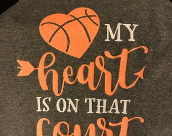 My Heart is on that Court RAGLAN T-Shirt Style