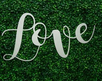 Love (steel sign)