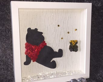 Winnie the Pooh Button Art- Unique Gift for any Disney Lover