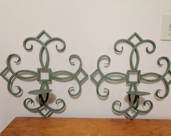 Upcycled metal candle sconces. Free shipping! Item # 1029162