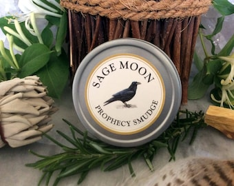 Sage Moon Prophecy Smudge ~ Loose sacred incense blend ~ Wiccan, Shaman, Celtic, Hedge Witch Magick ~ Natural incense by Wild Flower Shaman