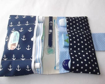 Anchor blue - white diaper bag diaper bags