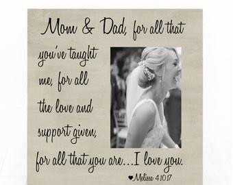 Parents of the Groom Picture Frame, Gift For Parents, Parents Of The Bride Frame, Personalized Wedding Picture Frame, Parents Wedding Frame