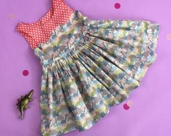 Girls Dinosaur Party Dress Girls Dress Birthday Dress 1st Birthday Dress Dresses Girls Birthday Gift Baby Dress Dinosaur Dress