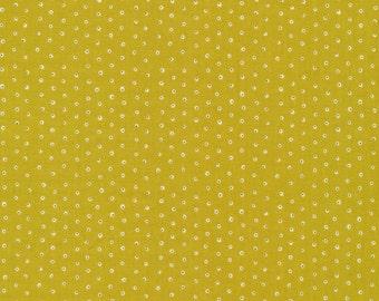 Green Dot Fabric - Two Tone Tiny Dots by Cloud9 Fabrics - organic fabric, garden secrets, sarah watson, small print, olive, modern fabric