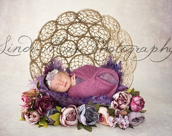 Digital Backdrop Newborn Prop Penny Purple Dream