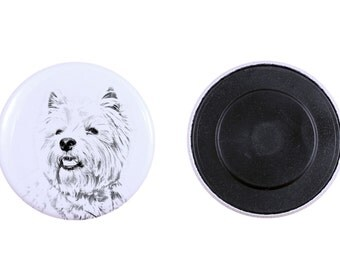 Magnet with a dog - West Highland White Terrier