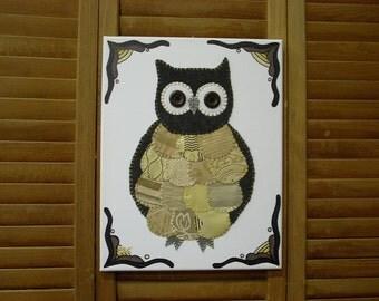 Small Owl #3 Fabric Wall Art