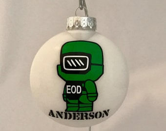 "EOD ""Bomb Guy"" Ornament- Personalized"