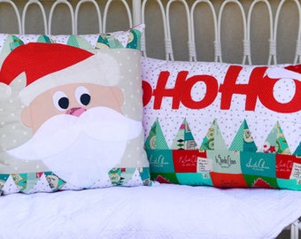Claire Turpin Designs - HoHoHo Cushions - Sewing Pattern - Applique Pattern - Christmas