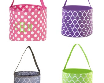 ON SALE - Personalized Easter Buckets - Spring, Easter, Bunny, Basket