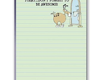 Funny Dog Note Pad - Set of 2 Notepads - Don't Forget to Be Awesome - 35042