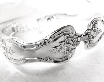 RERSERVED FOR JENN ( Express Shipping) Silver Bracelet,Spoon Jewellery, Antique Silver Bracelet, Vintage Silverware Bracelet,  Spoon Jewelry