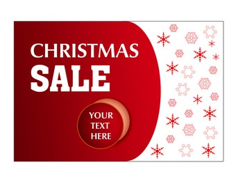 3 x 5ft Christmas sale Vinyl Banner