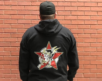Red Rocket Zip-Up Hoodie