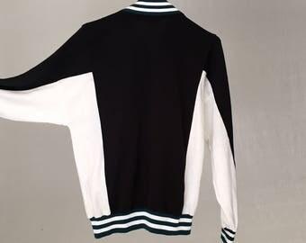 Christian Dior Vintage designer 70s track jacket/1970s 90s jacket women 2x hoodie athletic Zip up sweatshirt black bomber jacket men 42