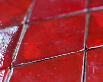 Rhombus tile - Red