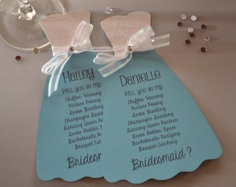 Will You Be My Bridesmaid Dress Card, Will You Be My Maid of Honor, Bridesmaid Proposal, Bridesmaid Invitation
