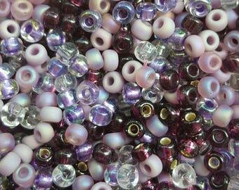 Miyuki 6/0 Japanese 4mm Seed Beads - Mix Lilacs 6-9MIX01 - 20g