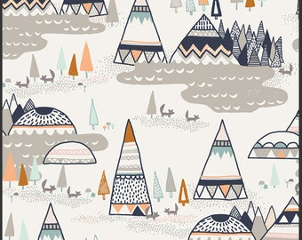 Changing Pad Cover - Teepees Brown