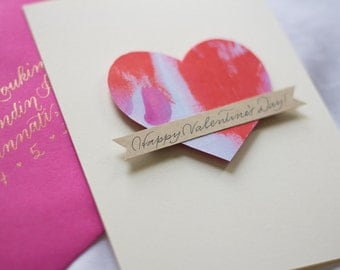 Valentine's Day Card – Calligraphy Envelope and Card