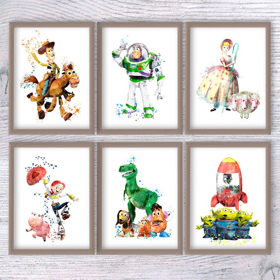 Set of 6 Toy Story print Disney wall decor Toy Story