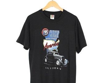 Vintage Route 66 T-Shirt - 90s Route 66 Cruisin' Main St America T-shirt - 1997 Route 66 California Black T-shirt