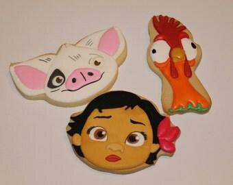 Moana cookies (12)